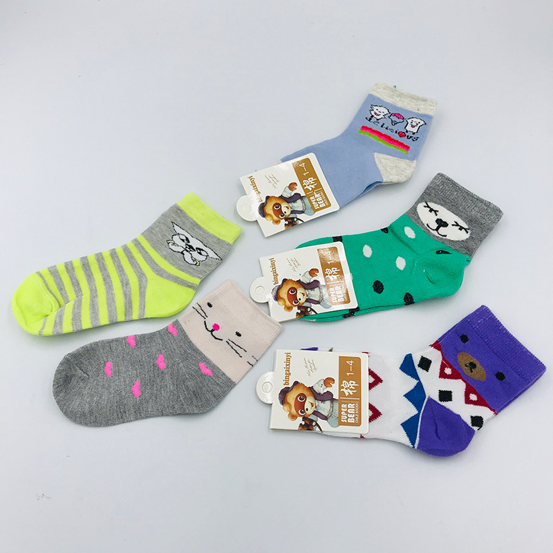 1-12岁儿童卡通纯棉袜子